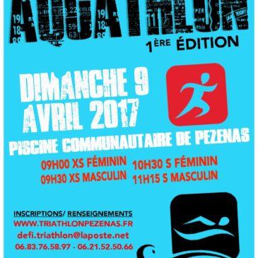 Aquathlon de Pezenas 9 avril 2017