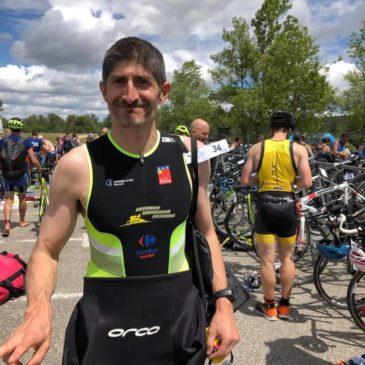 Triathlon de Carcassonne 18 mai 2019 : le baptême de Romuald